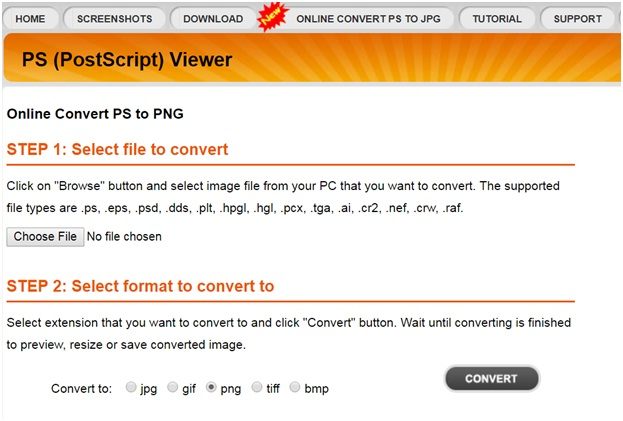 free online PS to PNG converter-PSViewer