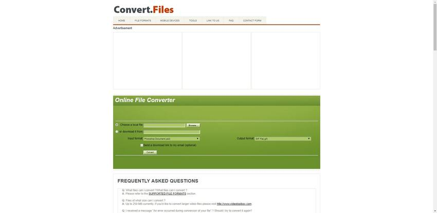 PSD to GIF conversion in Convert Files