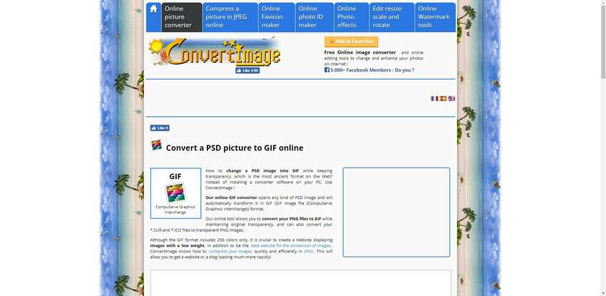 turn PSD to GIF in Convert Image
