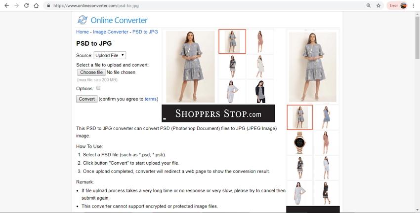 Convert PSD to JPG-Online Converter