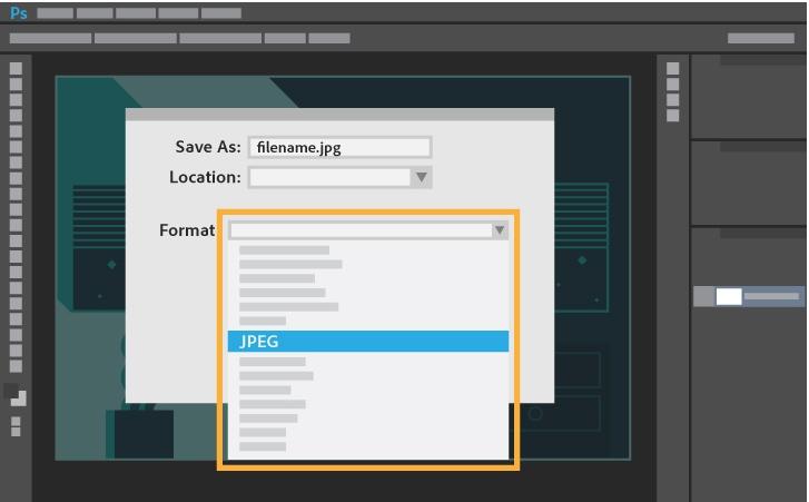 choose JPEG as desired format