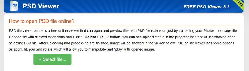 select file to PSD Viewer