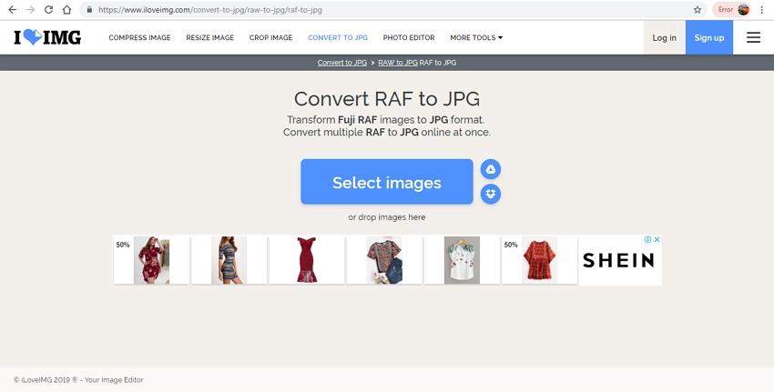 raf files to jpg format-ILoveImg