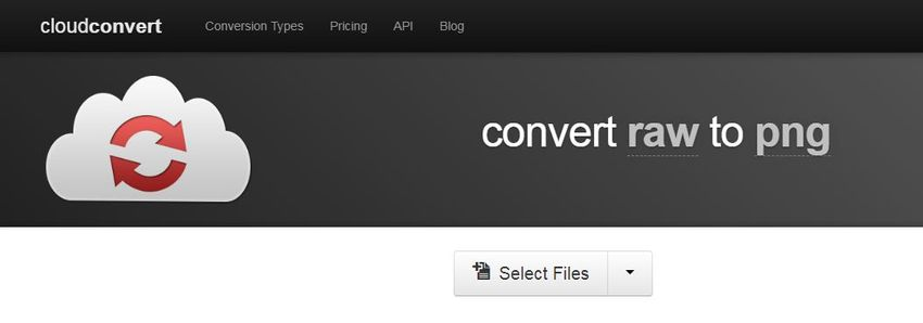 upload RAW file extension-cloudconvert