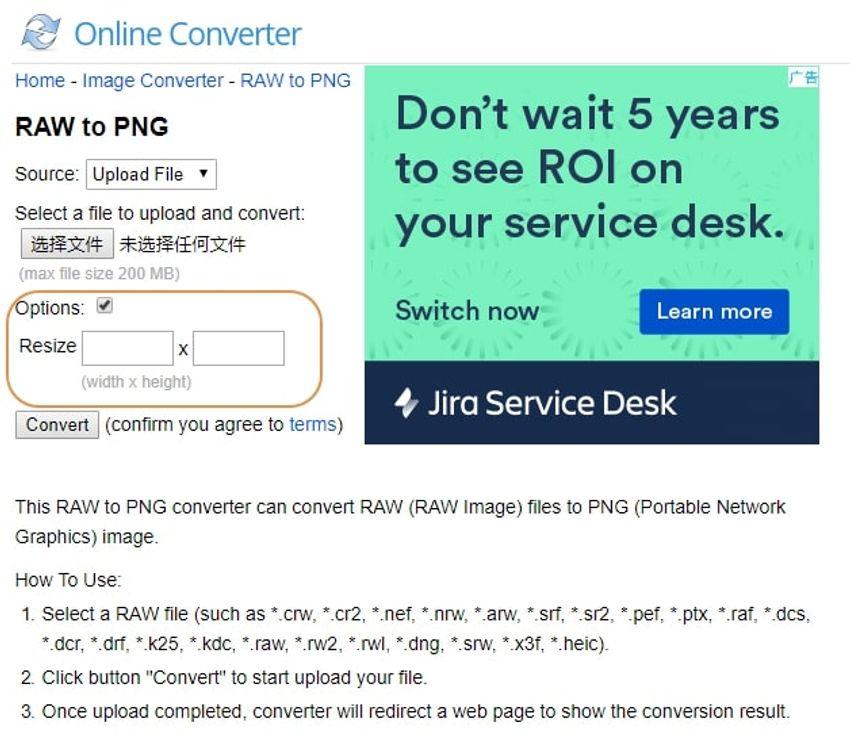 choose PNG-onlineconverter