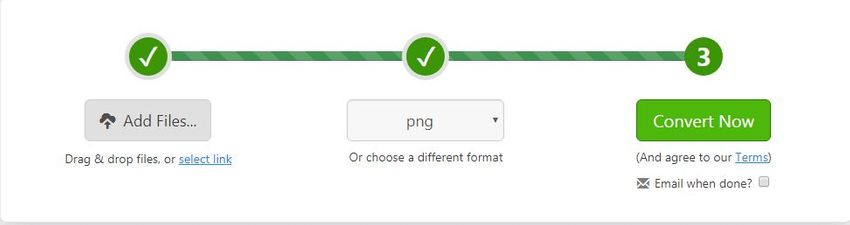 choose the PNG format-zamzar