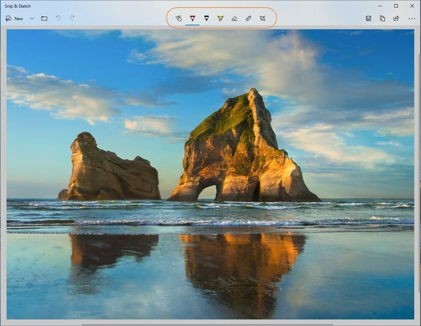 edit your capture file-Snipping Tool
