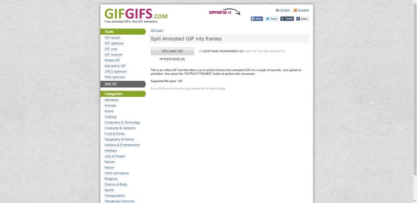 create individual GIF in GifGifs