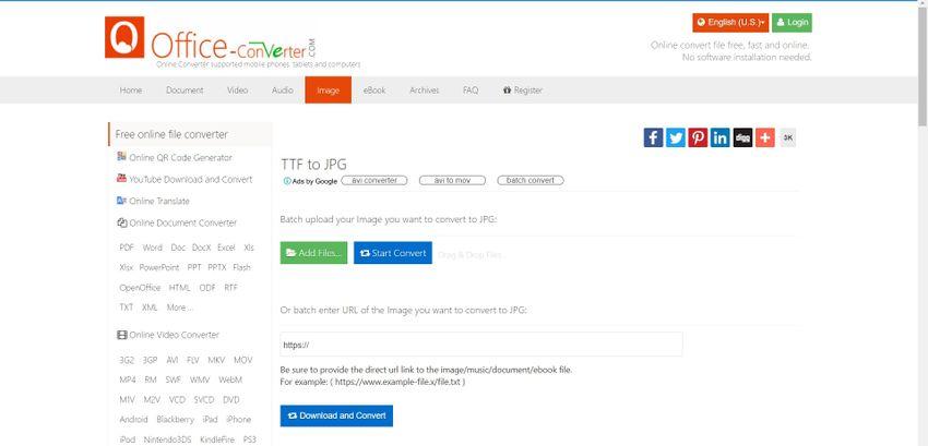 TTF to JPG Online Converter for Free