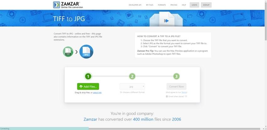 Free TIFF Converter-Zamzar