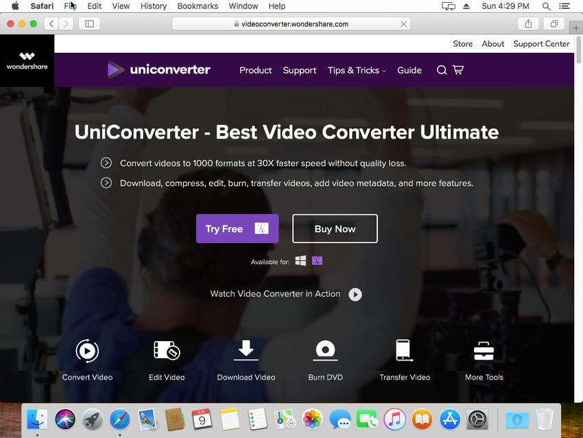 download Mac version of UniConverter
