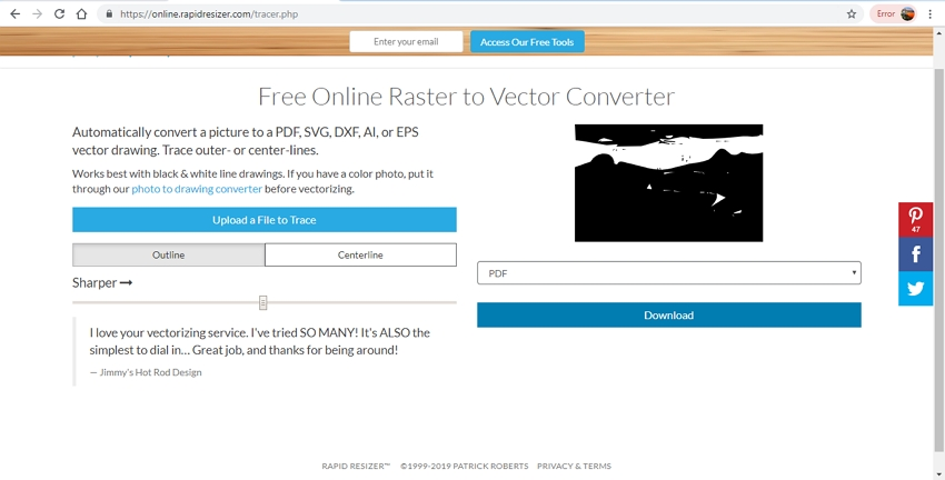 raster image to vector-Rapid Resizer