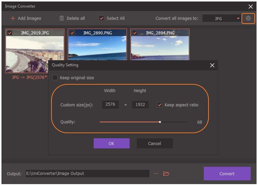 resize images-UniConverter