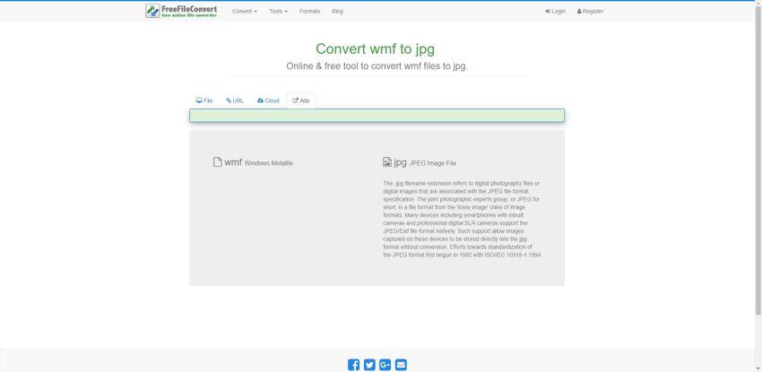 change WMF to JPG-FreeFileConvert