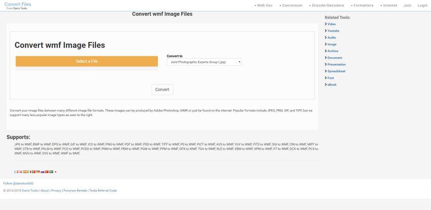 Turn WMF to JPG-Convert Files