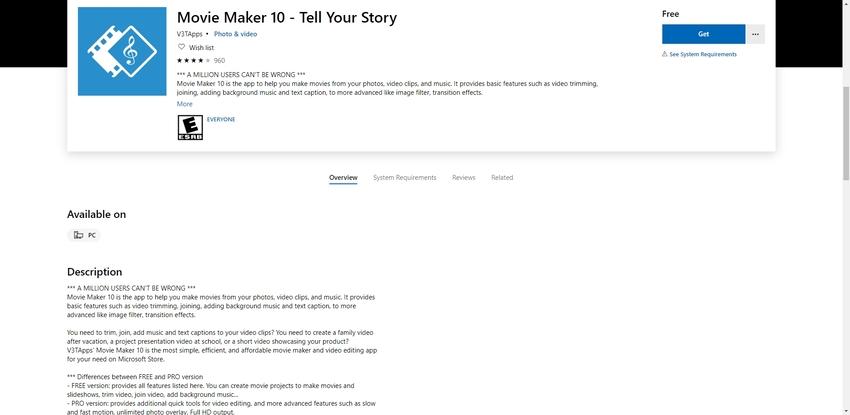 Movie Maker 10-Edit AVI Video