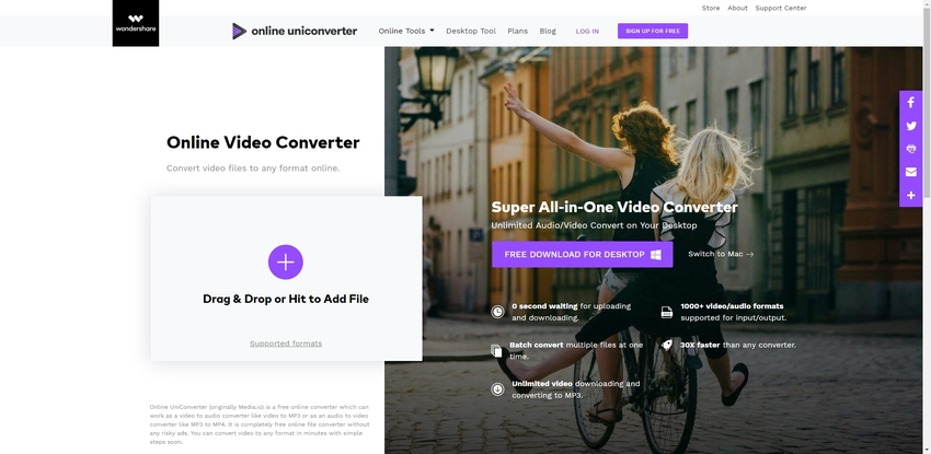 Convert video format-Online UniConverter