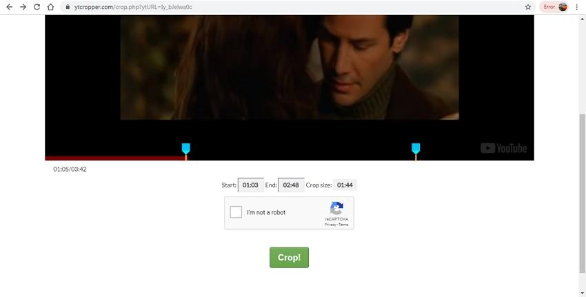 Edit Video File Online-YTCropper