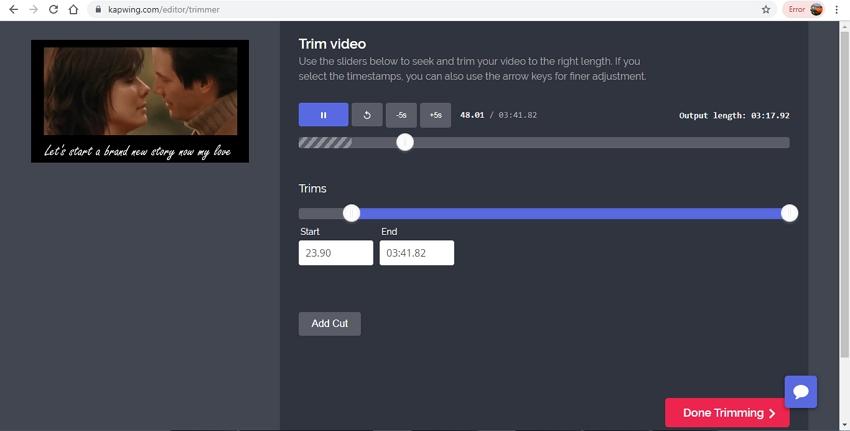 Edit Youtube Video File-Kapwing