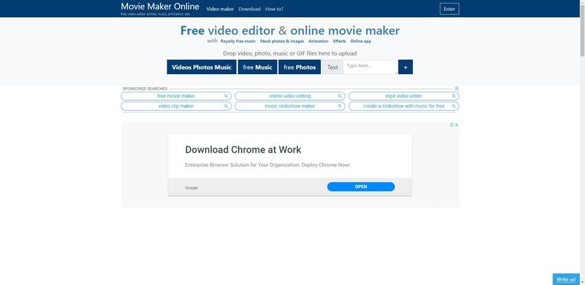 Edit MOV in Movie Maker Online