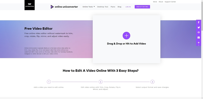 rotate MP4 video in Online UniConverter