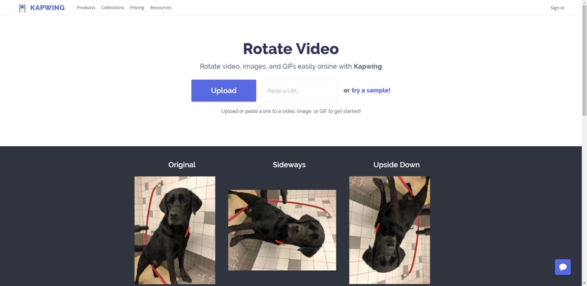 rotate a MP4 in Kapwing