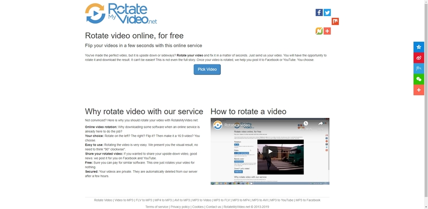 Rotate MP4 files in RotateMyVideo