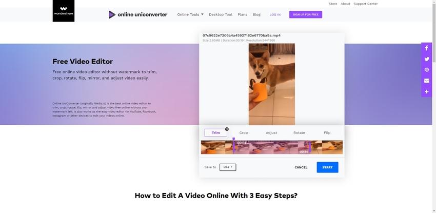 Trim MP4-Online UniConverter