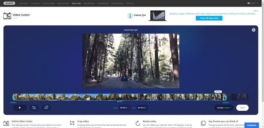 trim online MP4-Video Cutter Online