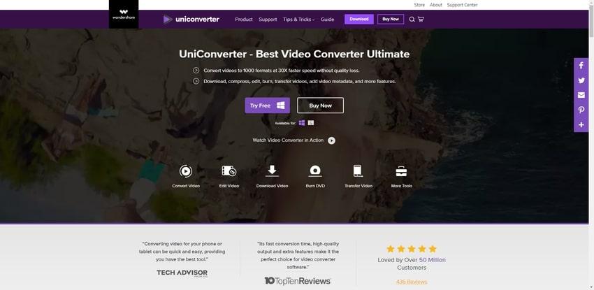 Crop Video Files in Wondershare Uniconverter