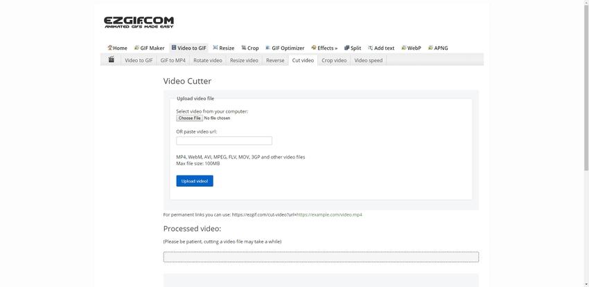 Online WMV Editor-EZGIF