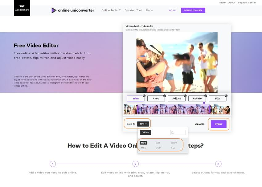 start editing video online